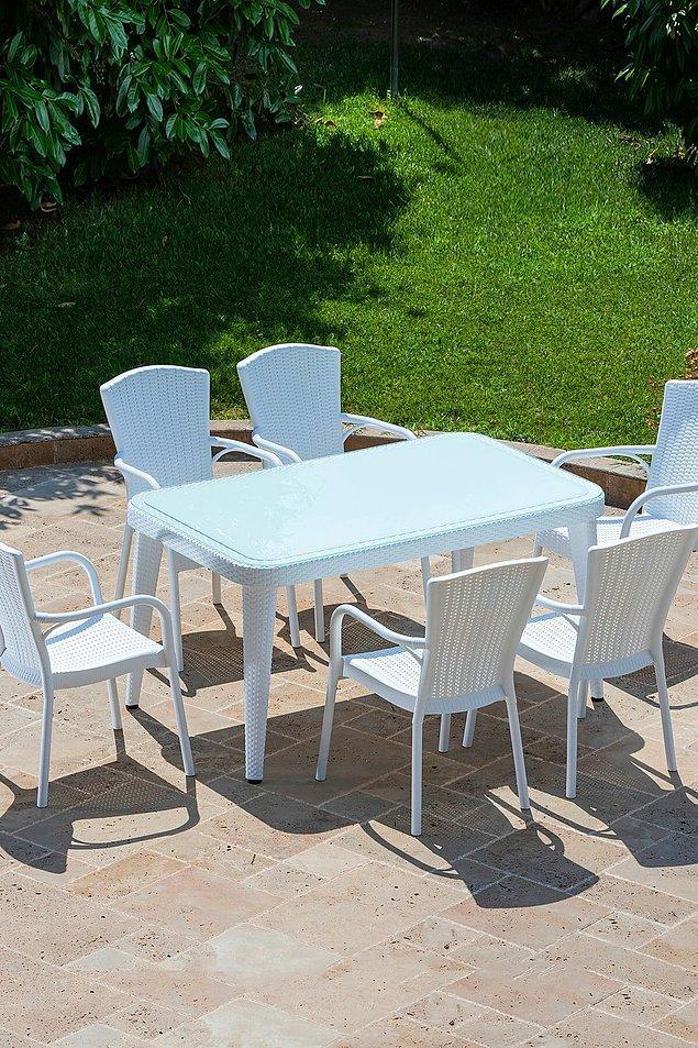 12. Bu da aynı masa takımının beyazı... Mobilyada beyazdan vazgeçemeyenler için.