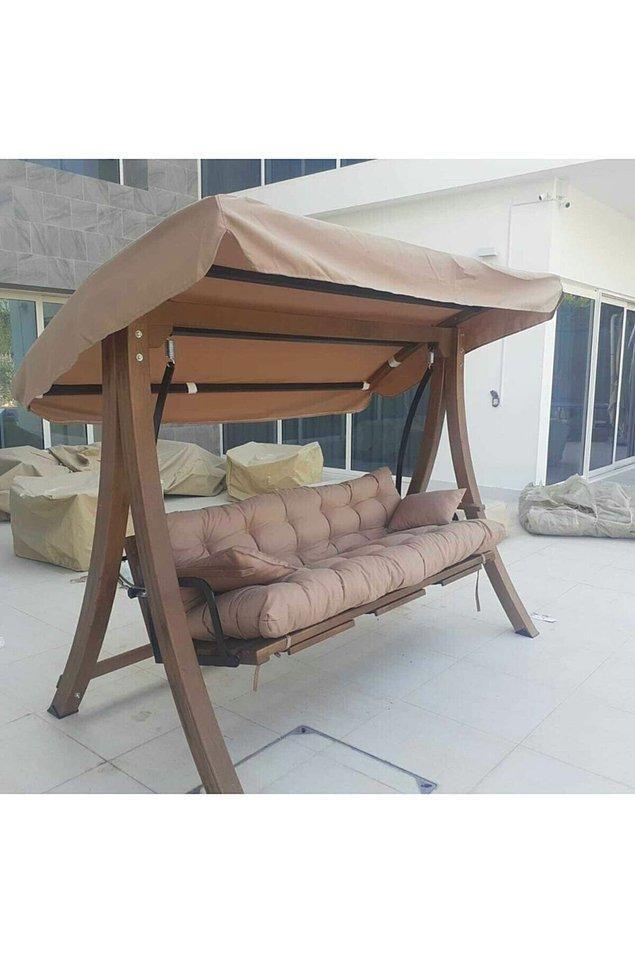 8. Kaliteli ve çok rahat bir salıncak... Bahçenizde ya da balkonunuzda keyif yapmak için ideal...