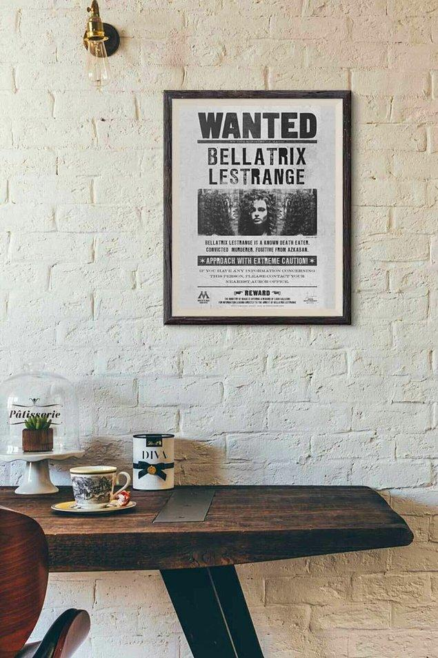 3. Orijinal, Warner Bros lisanslı Bellatrix Lestrange ''Wanted'' posteri