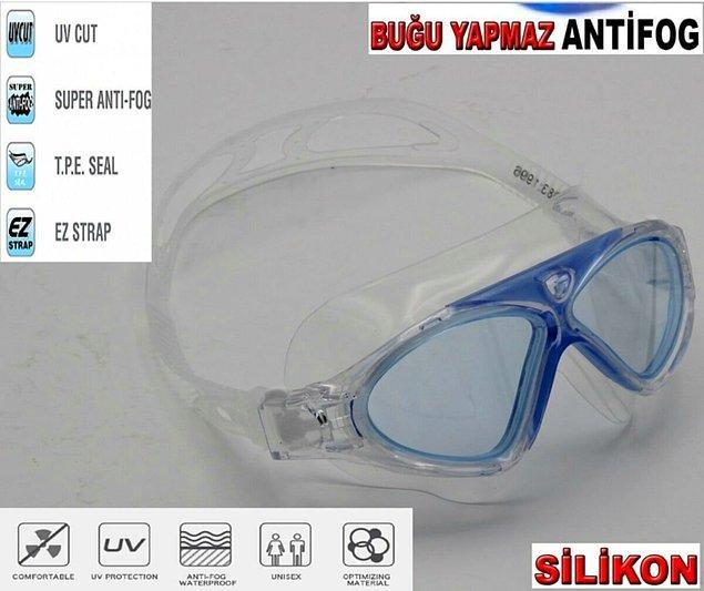 5. Yüzücü gözlüğünde de uv korumalı tercih edin...