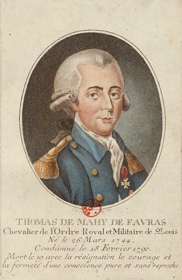 """11. Fransız Aristokrat, Thomas de Mahy, Marquis de Favras, ölüm emrini okuduktan sonraki son sözleri """"Üç tane yazım hatası yapmışsınız."""" olmuştur."""