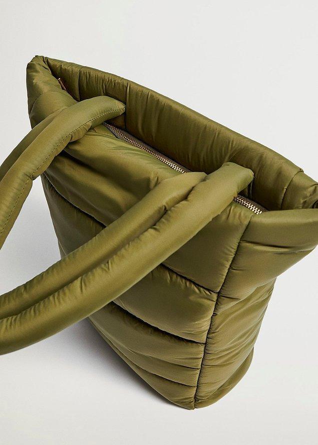 8. Mango kadın çanta modelleri, spor seçenekleri ile gözlerinizden kalpler çıkmasına neden olabilir!