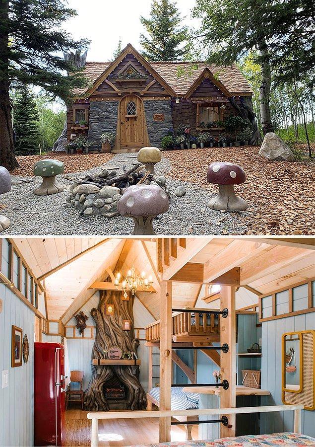 """2. """"Yıllardır ormanda bir kulübe inşa etmek istiyordum ve sonunda hayalim gerçekleşti."""""""
