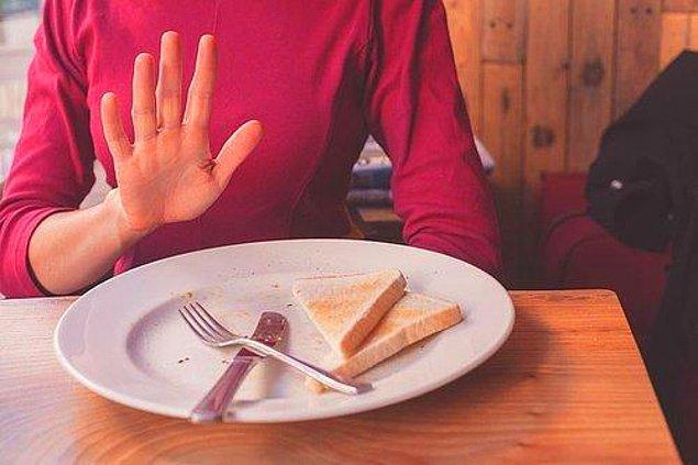 8. Tükettiğiniz gıda sağlıklı diye porsiyonları abartmayın.
