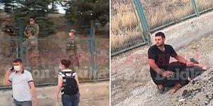 Ankara'da Askeriyeye Ait Alanda Bulunan Ağaçları Ateşe Veren Şahsı Vatandaş Yakaladı