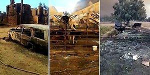 Manavgat'ta Meydana Gelen Yangının Boyutunu Gösteren Çiftçi Gözyaşları İçinde Kaldı