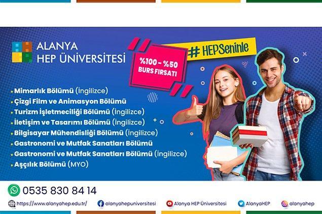 Hayallerinizdeki üniversite hayatına Alanya HEP Üniversitesi ile kavuşun!