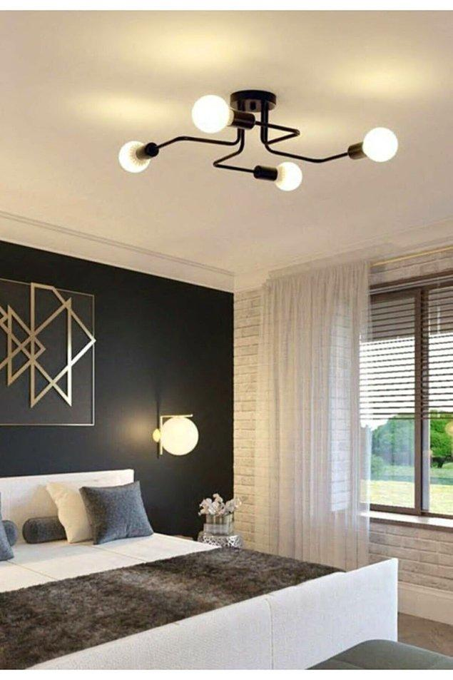 8. Yatak odası lambası için retro tarz...