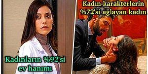 Biz Neler İzliyoruz Böyle! Türk Dizilerinin Gerçekten Cinsiyetçi Olduğunu Gösteren Veriler Yayınlandı