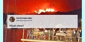 Yönetmen Semih Kaplanoğlu'nun Yangın Esnasında Yemek Yiyen İnsanları Gösterdiği Paylaşımı Tartışma Yarattı