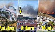 Dört Bir Yanımız Yanıyor! Türkiye'yi Ele Geçiren Orman Yangınlarından Yürekleri Paramparça Eden Görüntüler
