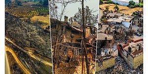 Yangında 4. Gün: Manavgat'ın Yarası Havadan Görüntülendi
