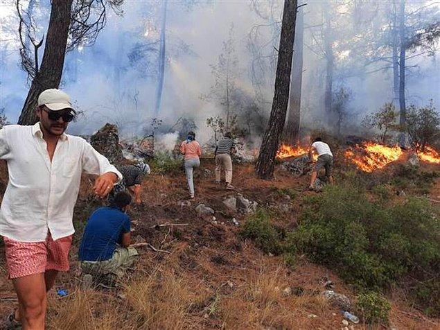 Muğla'nın Seydikemer İlçesinde Orman Yangını