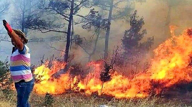 Muğla'nın Menteşe İlçesinde de Yangın Çıktı