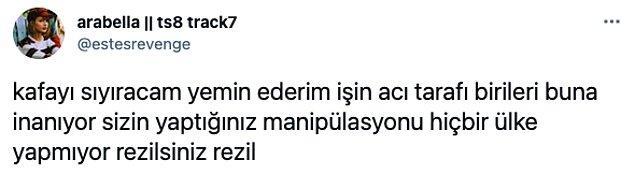 Bu mücadele içerisinde Türkiye'nin örnek olduğunu düşünmesi ise sosyal medyada epey tepki çekti;