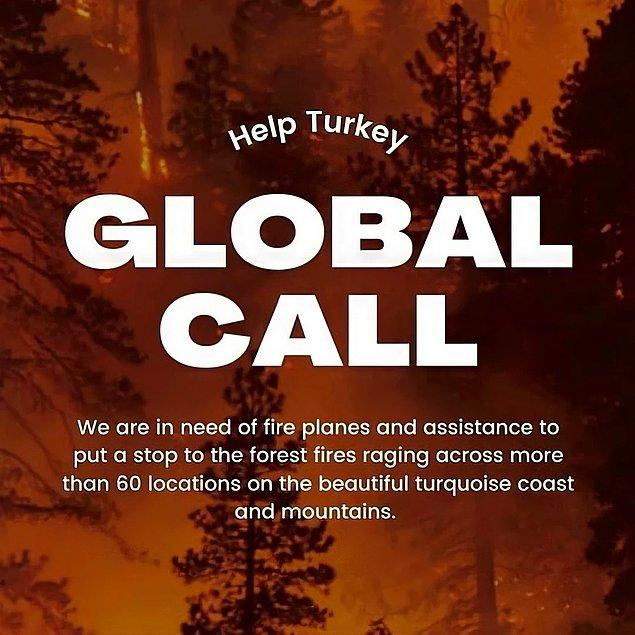 Global yardım çağrısıyla sesini duyurmaya çalışan başta ünlüler olmak üzere binlerce insanın tek isteği dünyadan yangın söndürme uçaklarının ve diğer desteklerin hızlı bir şekilde gönderilmesi.