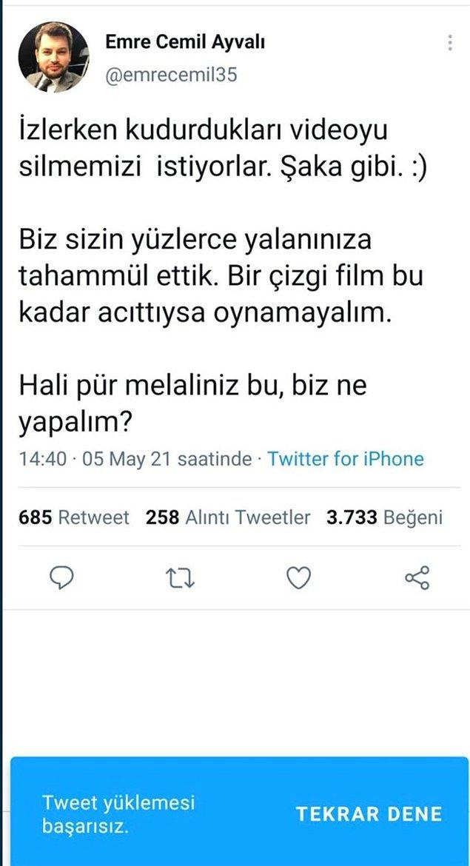 """7. Hatta AKP medya başkan yardımcısının """"silmeme"""" tweeti'de silindi"""