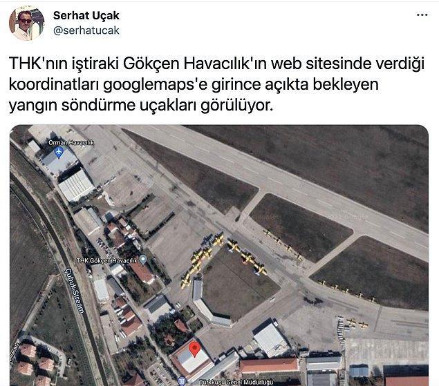 Bugün ise uydu görüntülerinden uçakların bekletildiği ortaya çıktı.