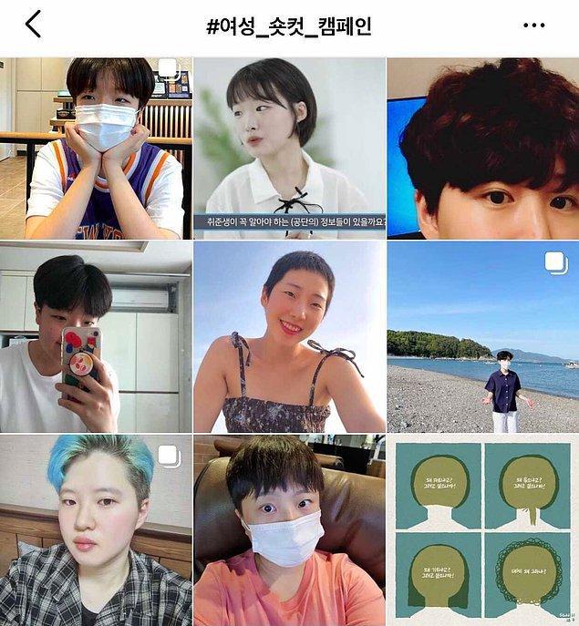 An San'a desteklerini göstermek isteyen kadınlar ise 'kısa saç kampanyası' başlattılar ve bu etiket altında 6 binden fazla fotoğraf paylaşıldı!