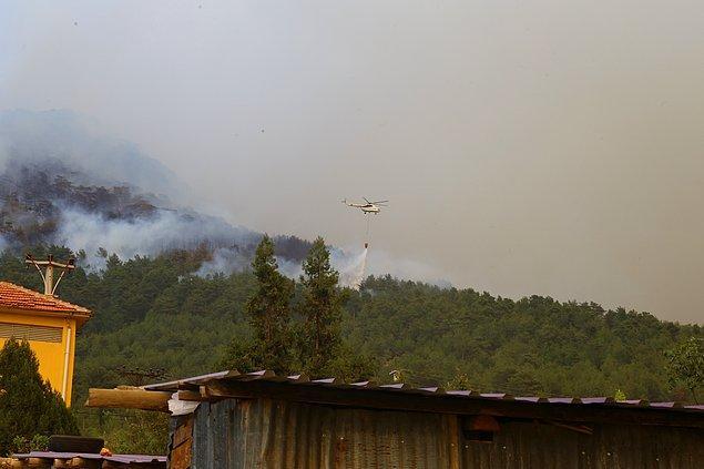 17:28 Antalya'nın Gündoğmuş ilçe merkezinde tahliyeye başlandı