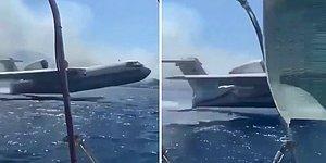 Yangın Söndürme Uçağı, Özel Yatlarıyla Denize Açılan Ailenin Yanından Su Aldı: 'Gerizekalı Herif'