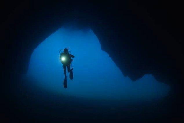 """13. """"Neredeyse bir yıl boyunca suya girmemi engelleyen iki mağara dalışı deneyimim oldu."""""""