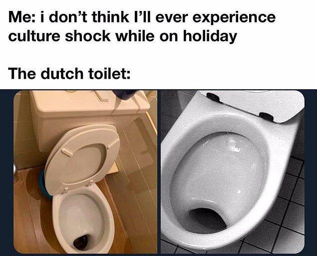 """1. """"Tatildeyken kültür şoku yaşayacağımı sanmıyorum     /     Hollanda'daki tuvaletler: """""""