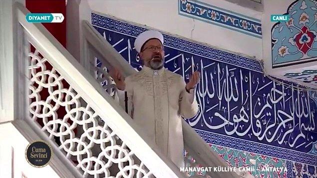 Geçtiğimiz Cuma günü Diyanet İşleri Başkanı Ali Erbaş, Antalya'ya gidip Manavgat Külliye Camisi'nde yağmur duası etmişti.