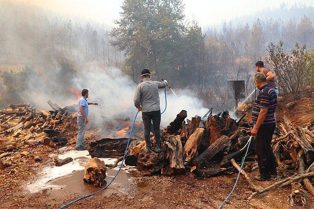 17. Kendi imkanlarıyla yangına müdahale etmek zorunda kalan halkımız;