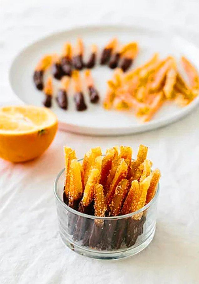 10. Çikolatalı Portakal Şekerlemesi Tarifi:
