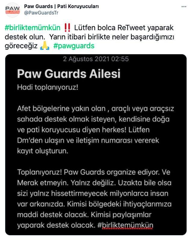 'Türkiye'de aç sokak hayvanı kalmayacak' sözleriyle yola çıkan PawGuards gönüllülerine yardımcı olabilirsiniz.