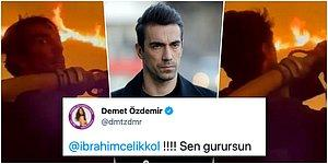 Milas'taki Orman Yangınına Ön Saflarda Müdahale Eden İbrahim Çelikkol, Ayakta Alkışlandı!