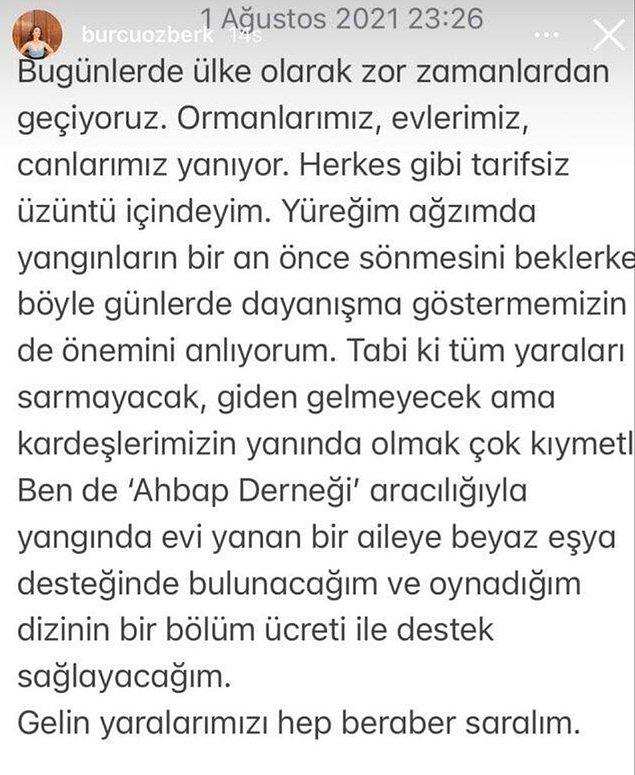 16. Burcu Özberk, Ahbap Derneği'ne beyaz eşya ve maddi destekte bulundu.