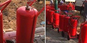 İyi İnsanlar İyi ki Varlar! Yangın Bölgesine Reklam Olmasın Diye Etiketsiz Yangın Tüpü Gönderen Şirket