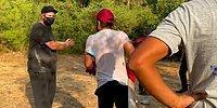 Yangın Söndürme Çalışmaları Sırasında Şahan Gökbakar'a 'Recep Abi' Diyen Vatandaş