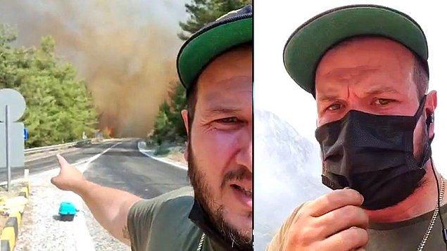 Günlerdir orman yangınlarının bulunduğu bölgelerde insanlara yardım etmeye çalışan, açtığı canlı yayınlarla herkesi bilgilendiren, Marmaris ölmesin diye avazı çıktığı kadar 'Havadan müdahale istiyoruz, uçak istiyoruz' diye bağıran bir Şahan Gökbakar vardı Instagram'da.