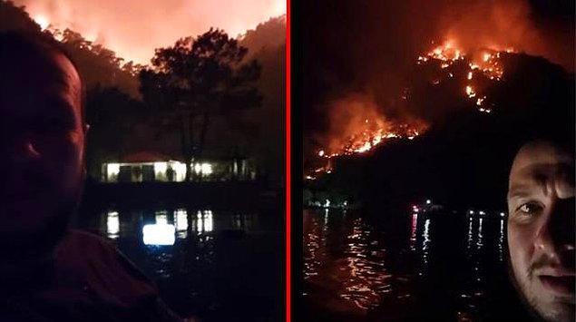 Ancak ne yazık ki yangın tehlikesi taşımayan evinin oraya kadar ilerledi alevler... Anbean içi cızlaya cızlaya takip etti yangını dün gece. Havadan müdahale olmadığı için kendi imkanlarıyla ve gönüllülerle çarpıştı yangınla!