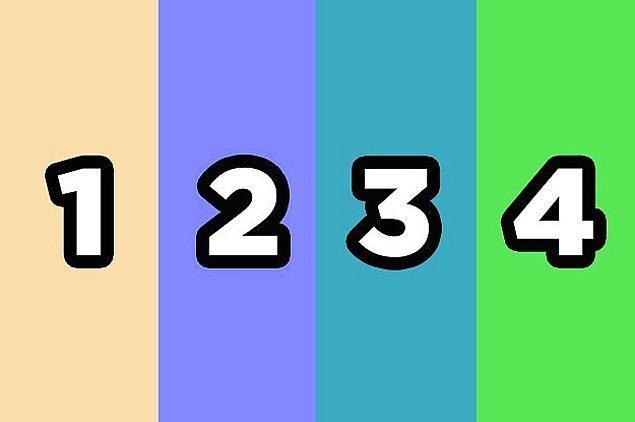 Bu karelerden hangisi 3 numara ile aynı renk?