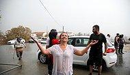 Sevinç Çığlığı Attılar: Yangının Ardından Yağmur Geldi