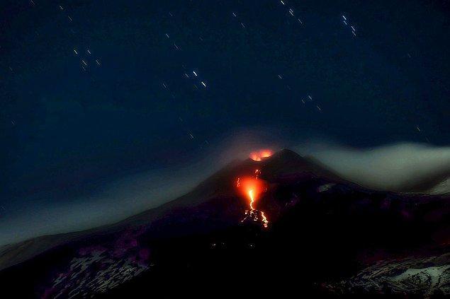 Yanardağın daha genç ve aktif olan krateri 3.357 metre uzunluğa ulaşarak bir kez daha uzunluk rekoru kırdı.