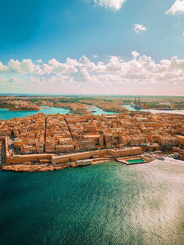4. Bir diğer küçük ülke de Malta...