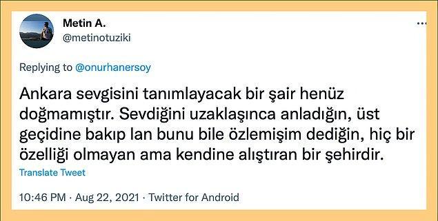 Bazen Ankara'ya olan sevgini anlatacak kelime bulamazsın...