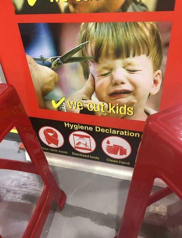 2. Çocukların saç kestirirken sakin durmasına oldukça yardımcı olacak harika bir temsili resim...
