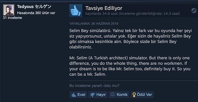 10. Selim bey simülatörü.