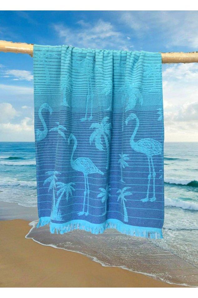 5. Plaj havlusu, uzun yıllar kullanılabilen bir plaj ürünü...