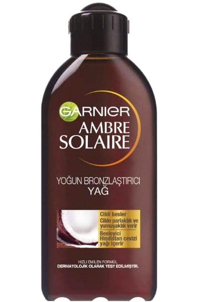 19. Garnier ambre solaire yoğun bronzlaştırıcı yağ ile gelecek yaza hazır olun!