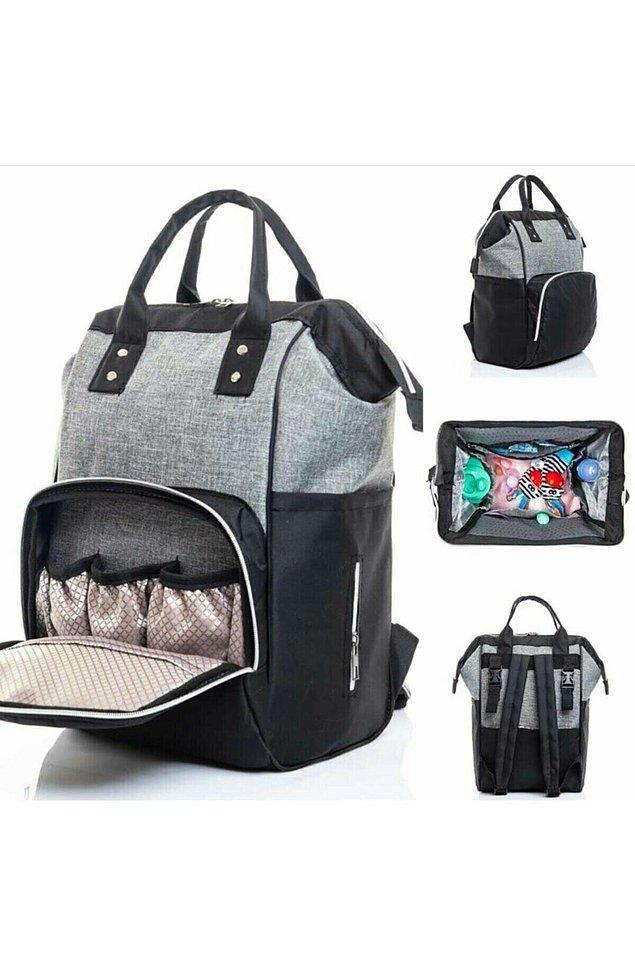 17. Kullanışlı bir bebek bakım çantası da bir annenin en çok kullanacağı şeylerden biri...
