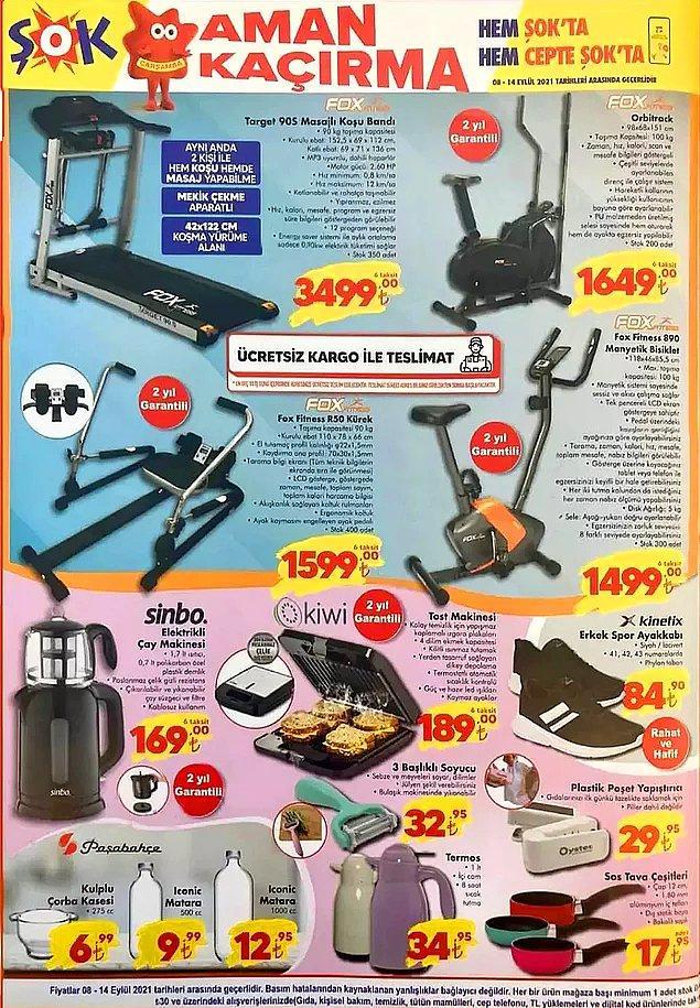 ŞOK'ta bu hafta spor aletleri satışta olacak.