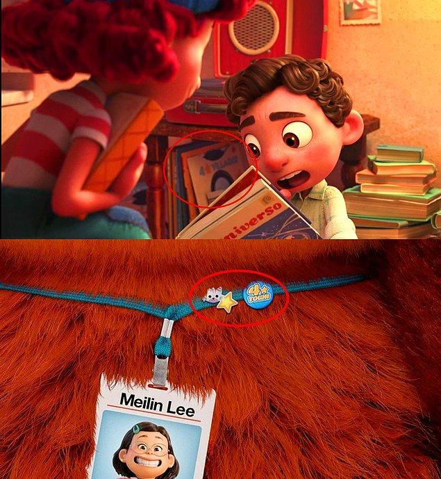 """2. Luca (2021) filminde gizlenmiş olan """"4 ⭐ Villaggio"""" plağı, 2022'de çıkacak olan Pixar filminin habercisi. Turning Red (2022) filminde """"4 ⭐Town"""" isimli bir grup yer alıyor."""