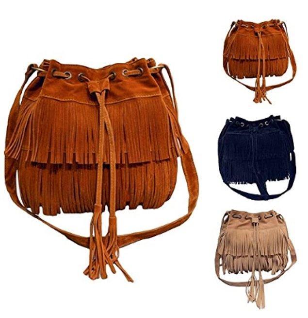 19. Günlük kullanım için püsküllü çanta!😍